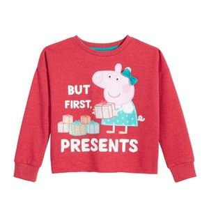 Girl's Peppa Pig Christmas Raw Sweatshirt
